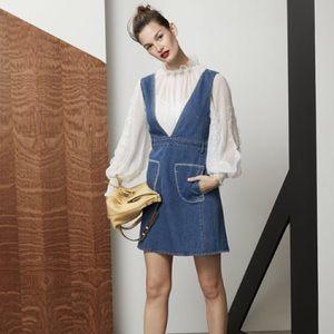 See by Chloe Vneck denim Dress